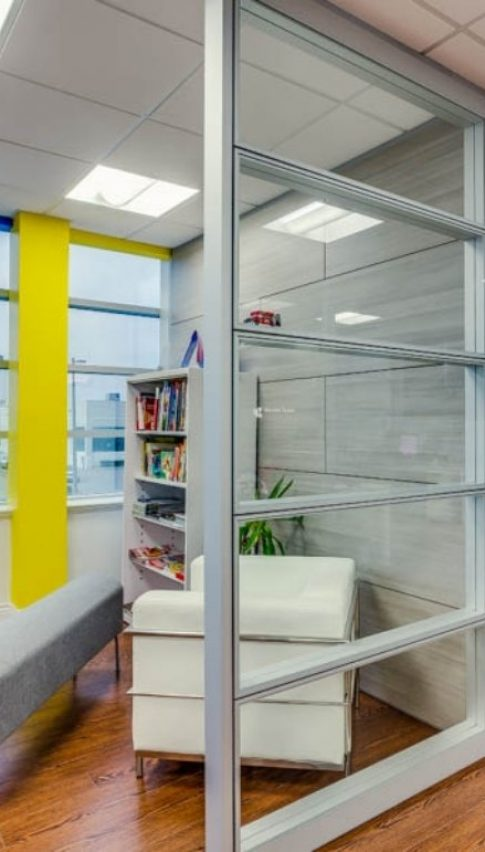 new office glass panels