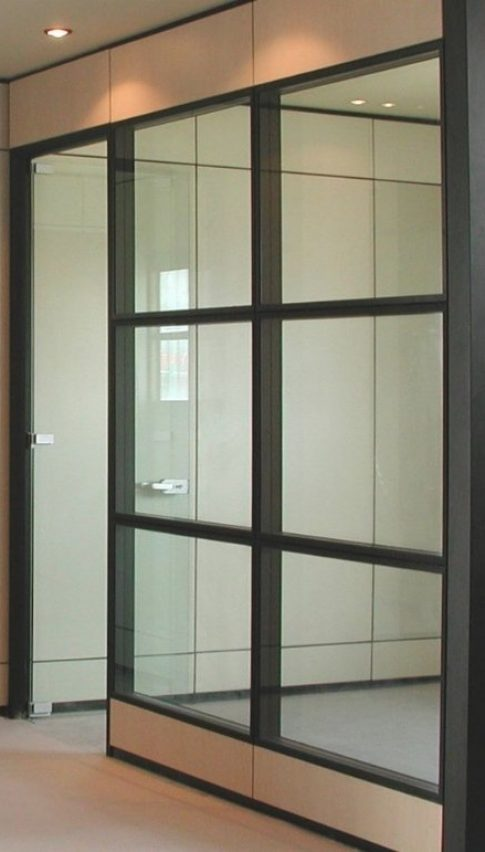 partition with framed glass