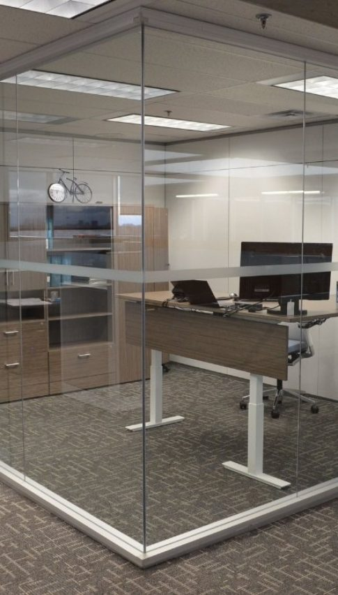 new frameless glass partitions
