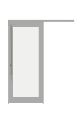 Illustration of a framed glass french sliding door from IMT