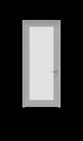 illustration of framed glass french swing door