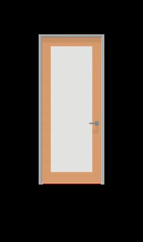 Illustration of full glass insert swing door from IMT