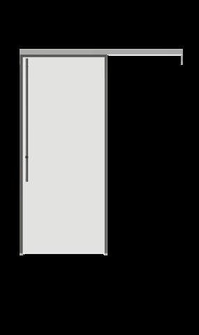 Illustration of full glass sliding door from IMT