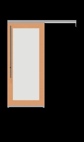 Image of a glass insert full sliding door from IMT