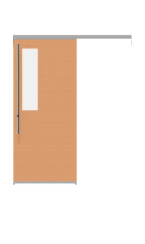 Illustration of a glass insert view sliding doors from IMT